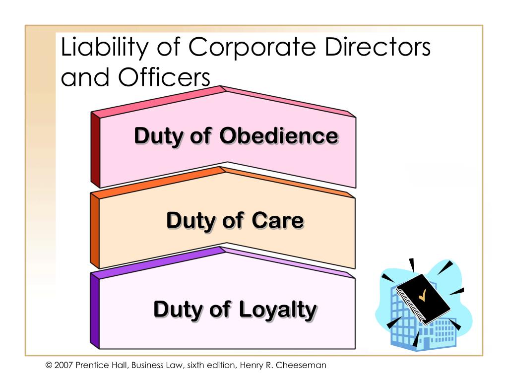 Liability of Corporate Directors and Officers