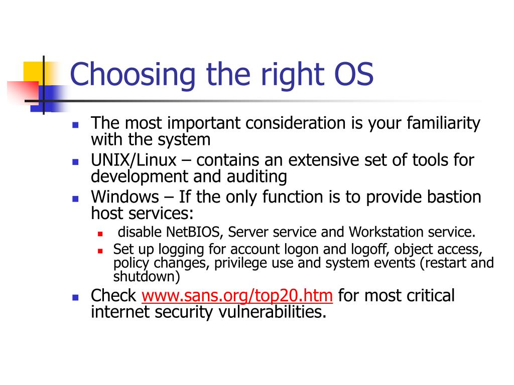 Choosing the right OS