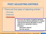 post adjusting entries15
