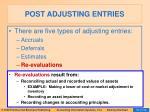 post adjusting entries16