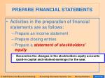 prepare financial statements22