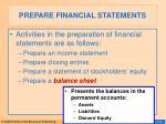 prepare financial statements23