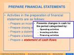 prepare financial statements24