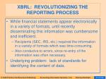 xbrl revolutionizing the reporting process