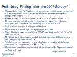 preliminary findings from the 2007 survey