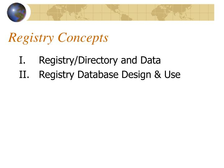 Registry Concepts