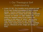 i our theological self understanding