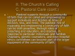 ii the church s calling c pastoral care cont13