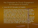 key challenges for church engagement b perception of disability
