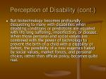 perception of disability cont