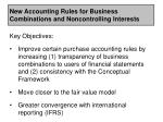 new accounting rules for business combinations and noncontrolling interests5