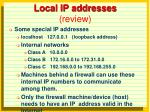 local ip addresses review