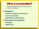what is enumeration