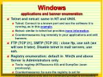 windows applications and banner enumeration