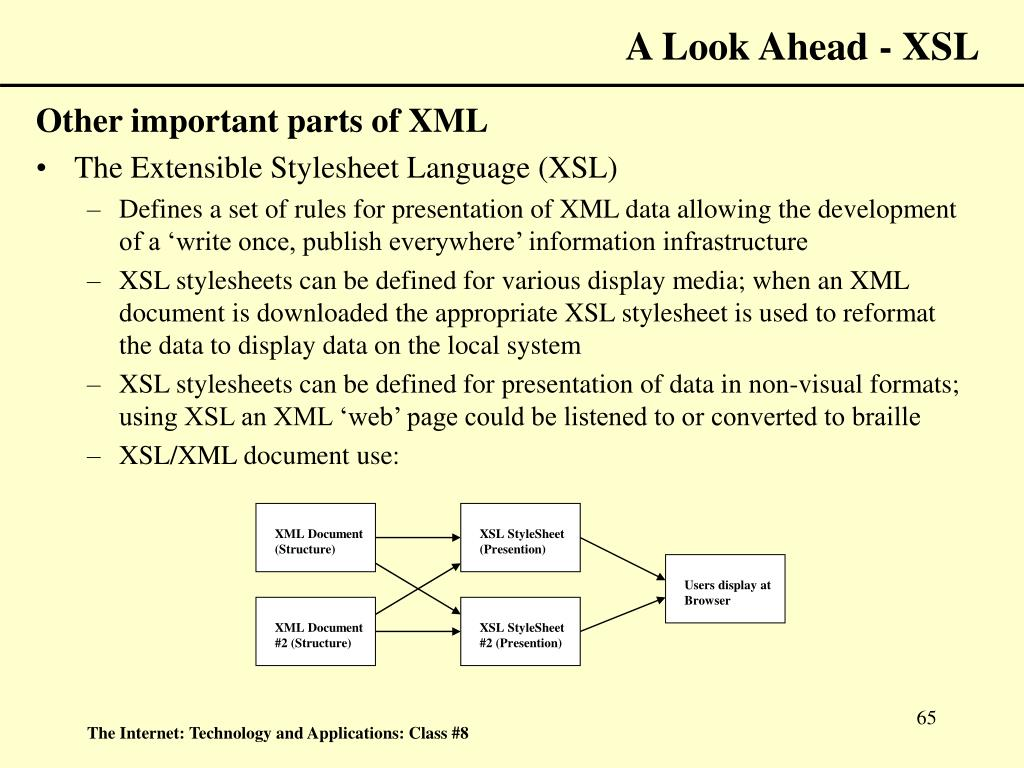 A Look Ahead - XSL