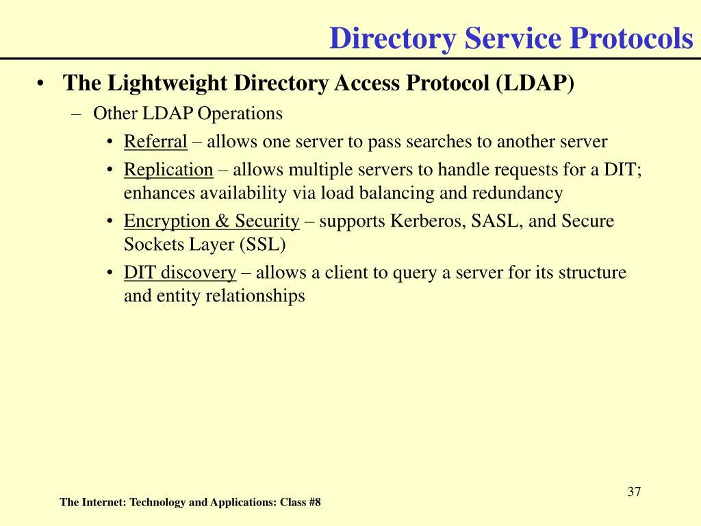 Directory Service Protocols