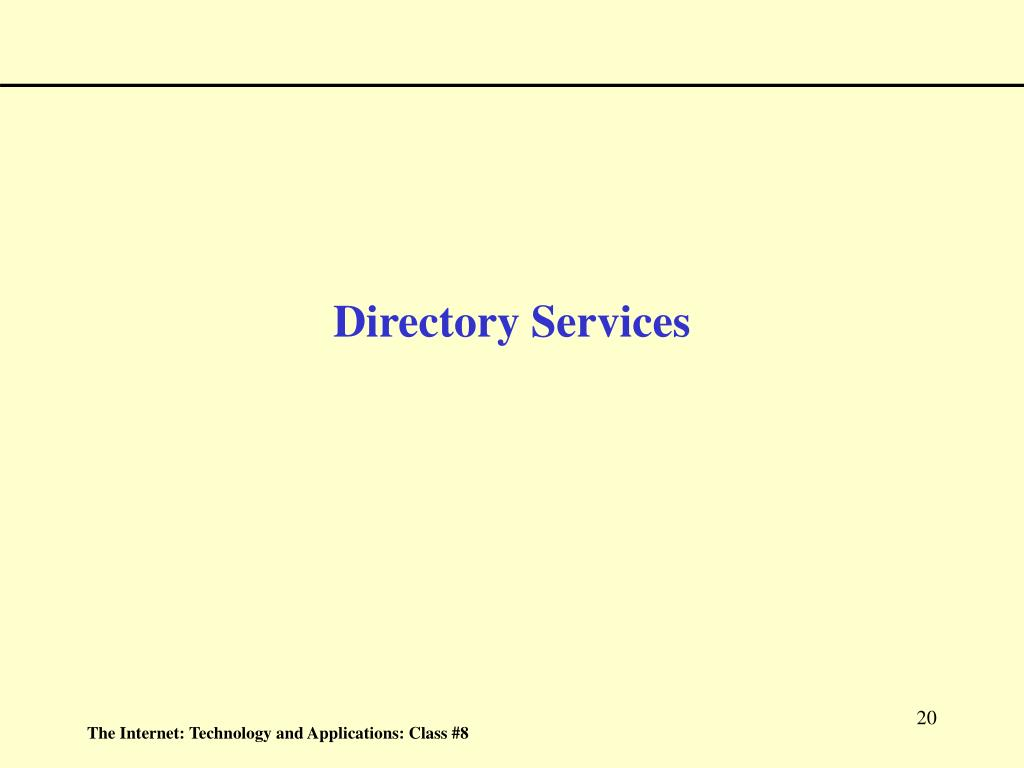 Directory Services