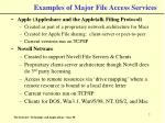 examples of major file access services7