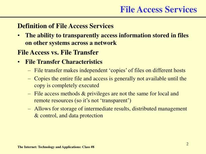 File access services
