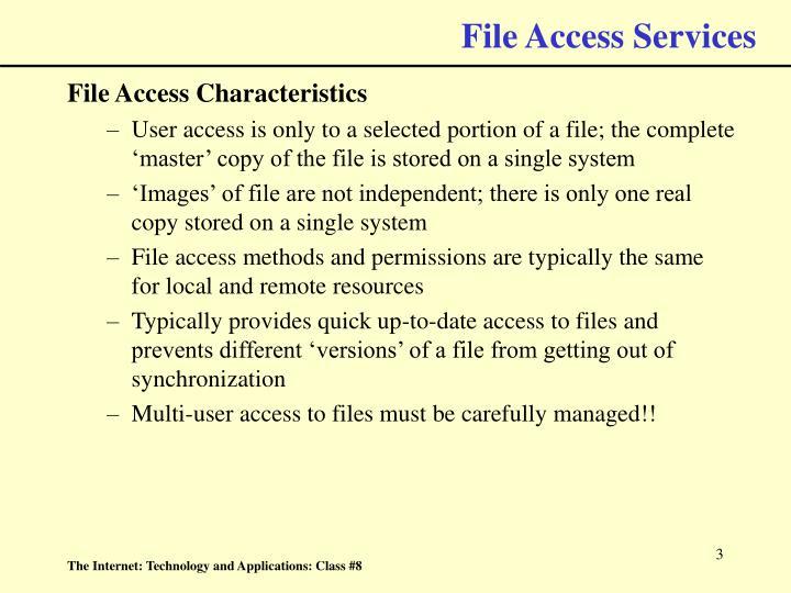 File access services3