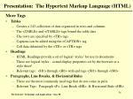 presentation the hypertext markup language html54