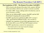 the remote procedure call rpc