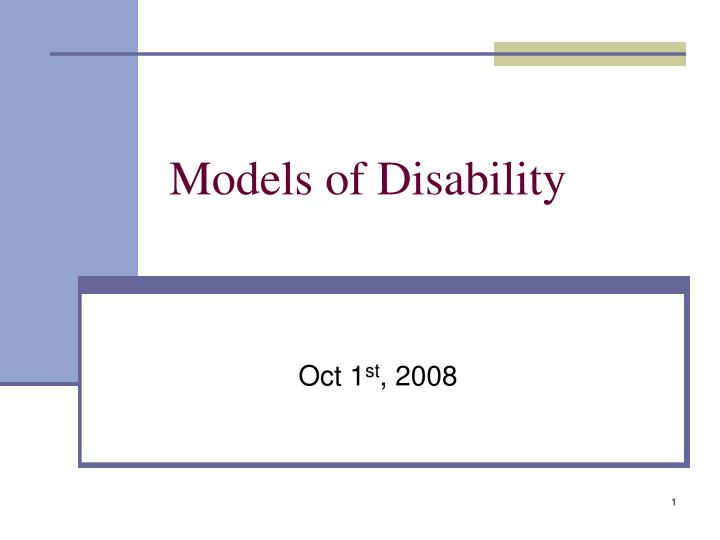 models of disability n.