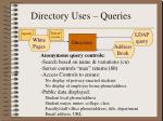 directory uses queries