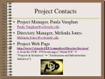 project contacts