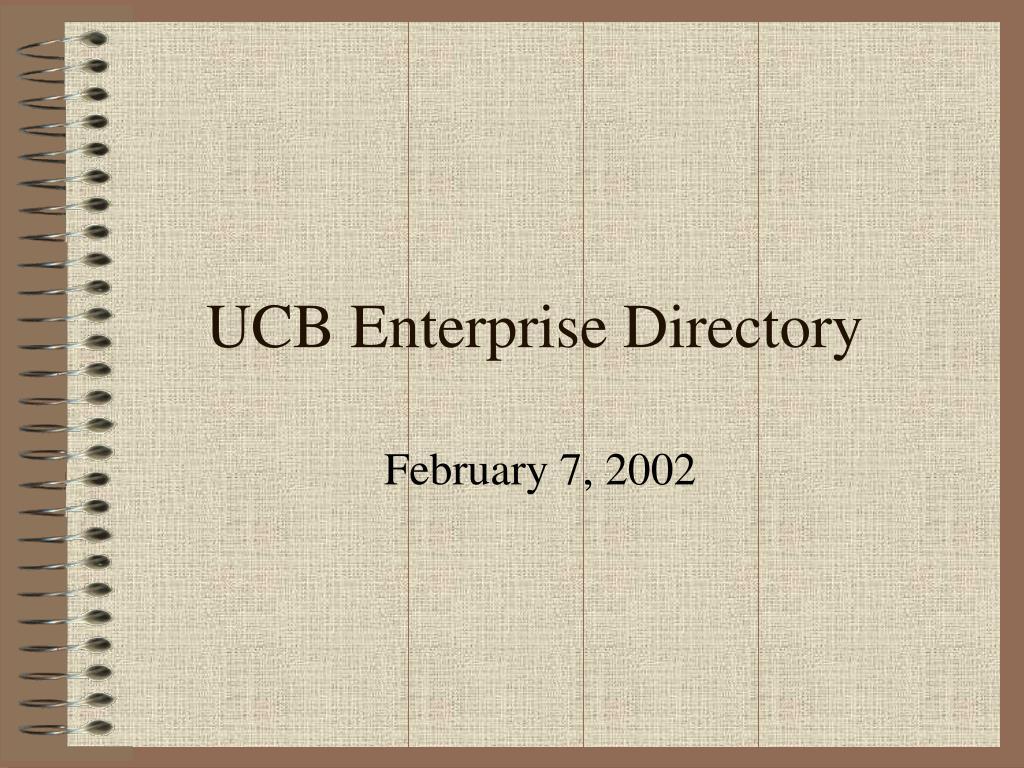 ucb enterprise directory l.