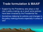 trade formulation maaif14
