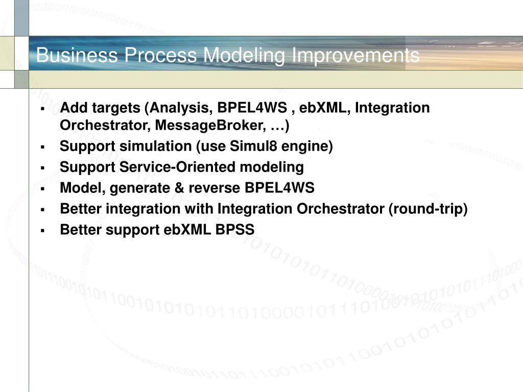 Business Process Modeling Improvements