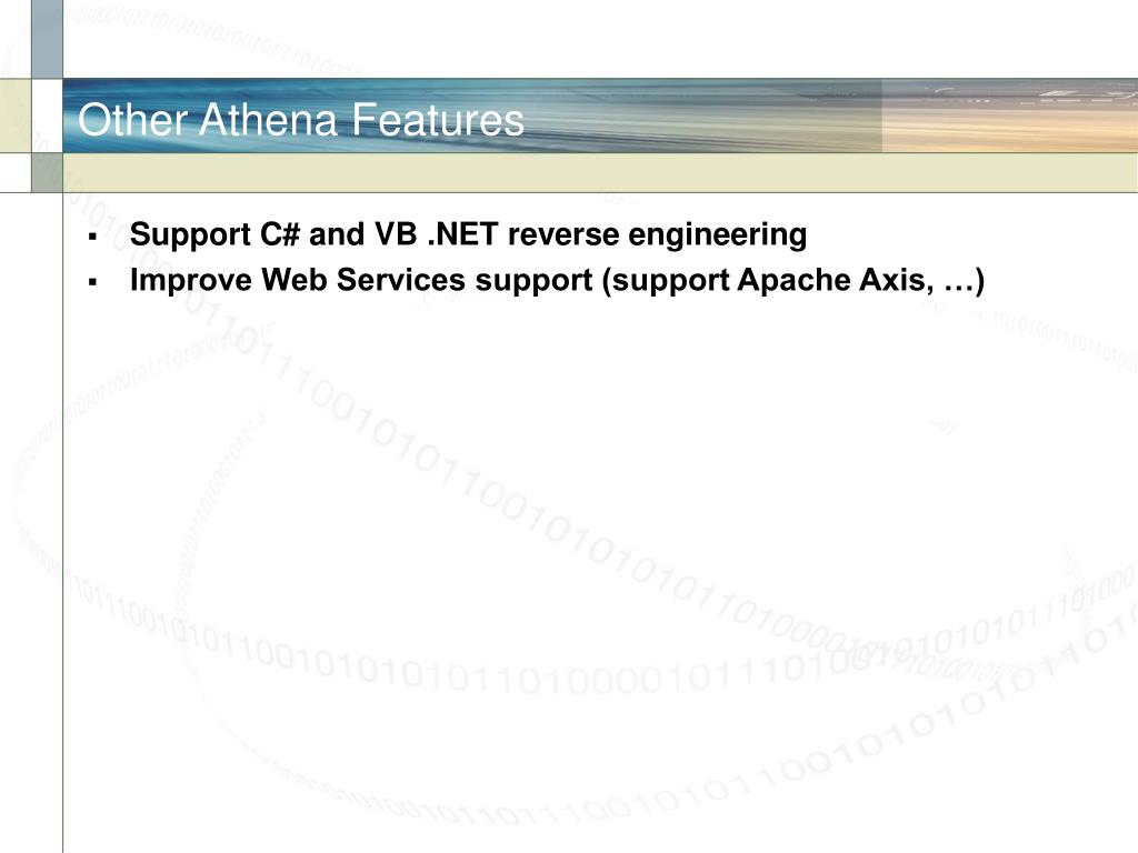 Other Athena Features