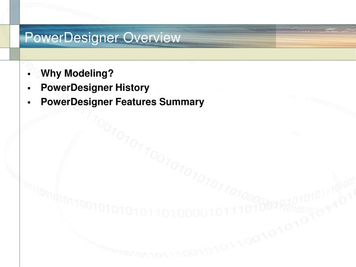 Powerdesigner overview