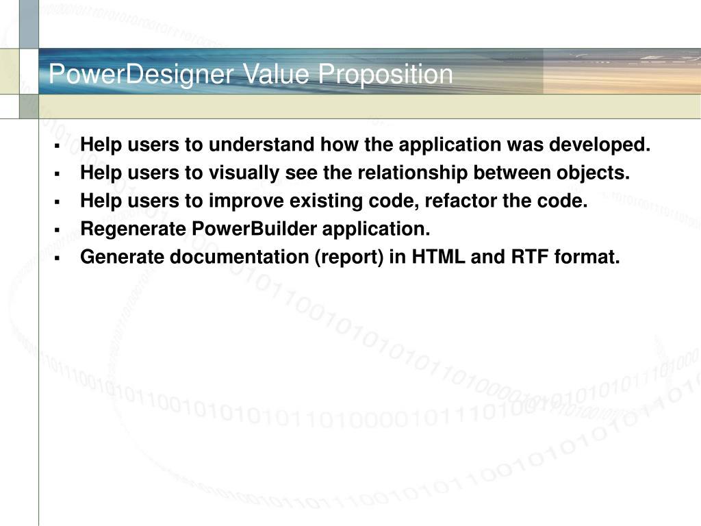 PowerDesigner Value Proposition