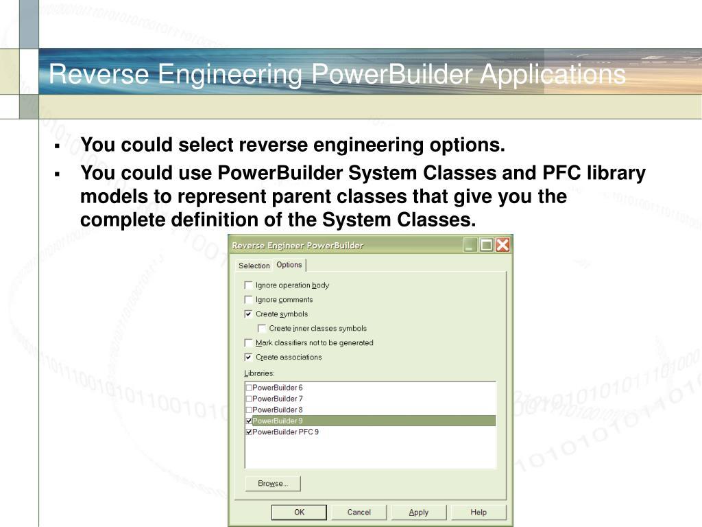 Reverse Engineering PowerBuilder Applications