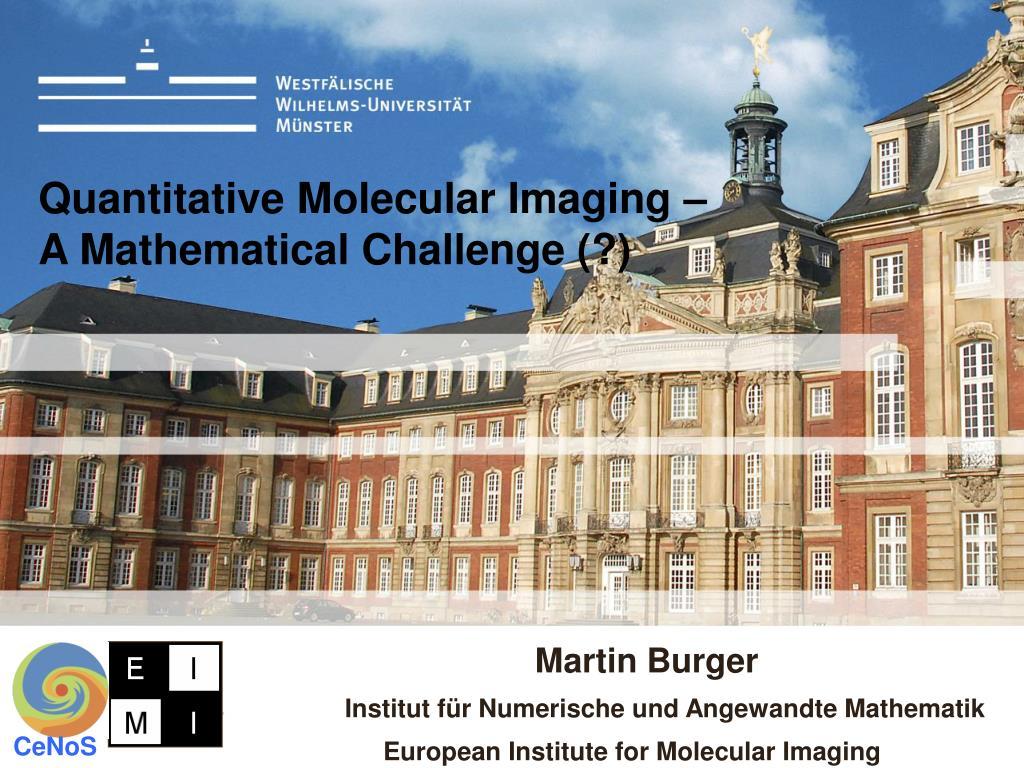 quantitative molecular imaging a mathematical challenge l.