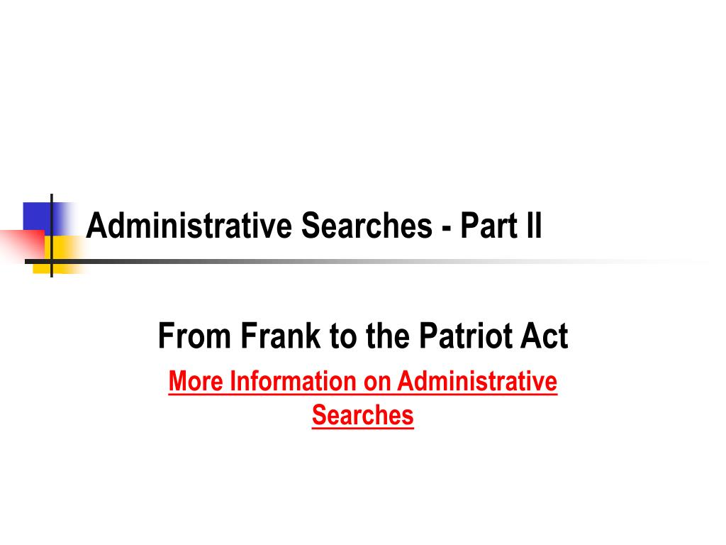 administrative searches part ii l.