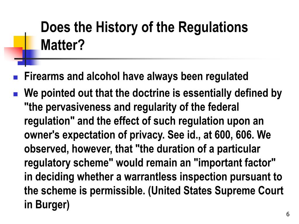 Does the History of the Regulations Matter?
