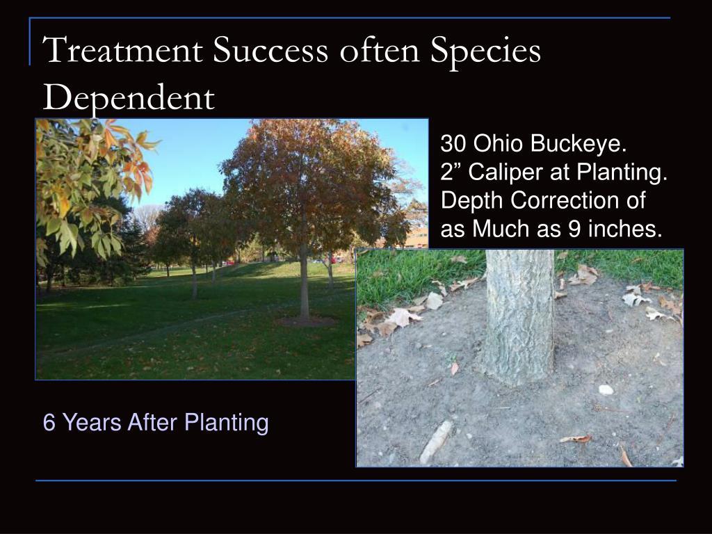 Treatment Success often Species Dependent