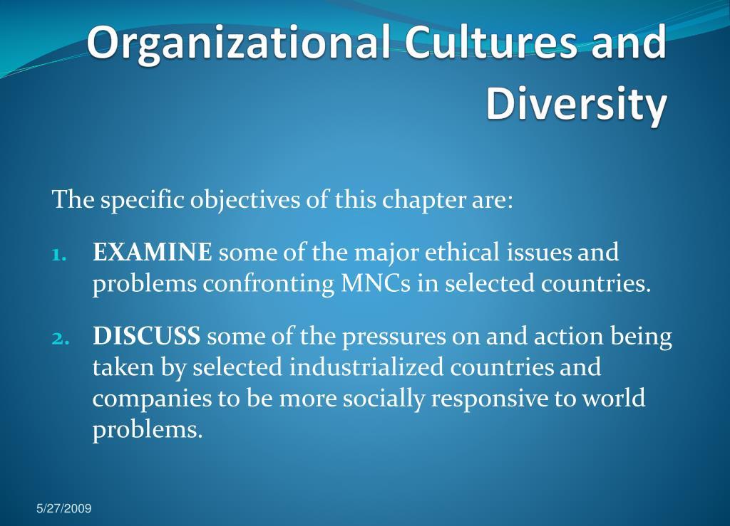 organizational cultures and diversity l.