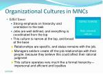 organizational cultures in mncs16