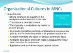 organizational cultures in mncs17