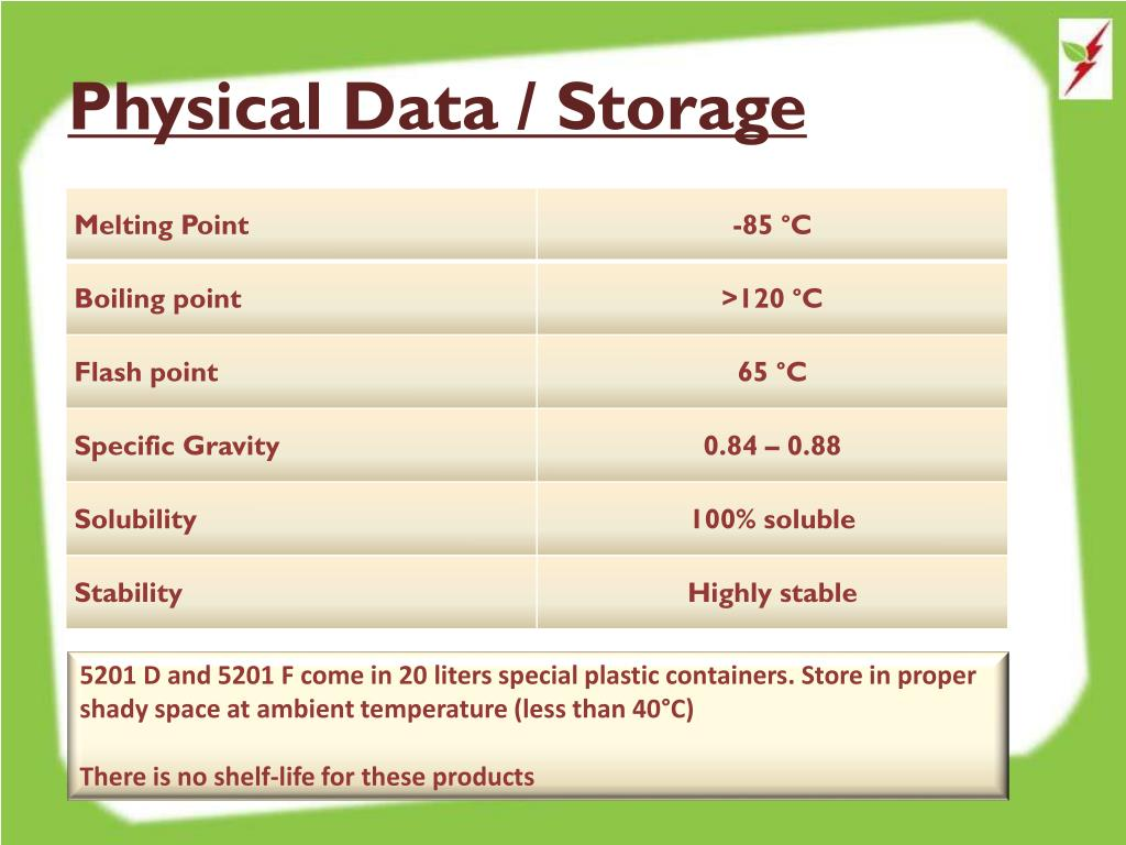Physical Data / Storage