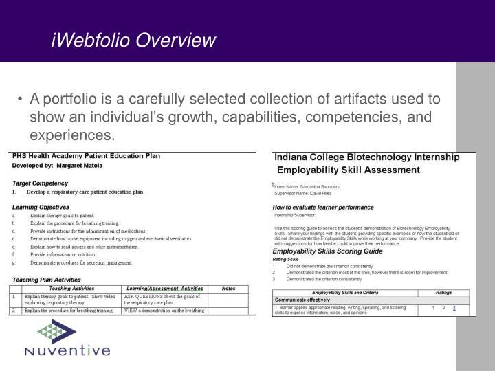 Iwebfolio overview3
