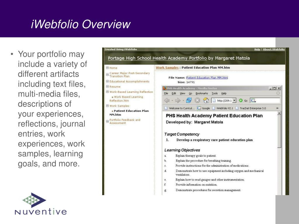iWebfolio Overview