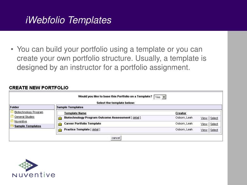 iWebfolio Templates
