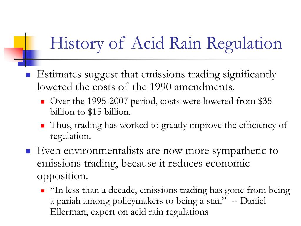 History of Acid Rain Regulation