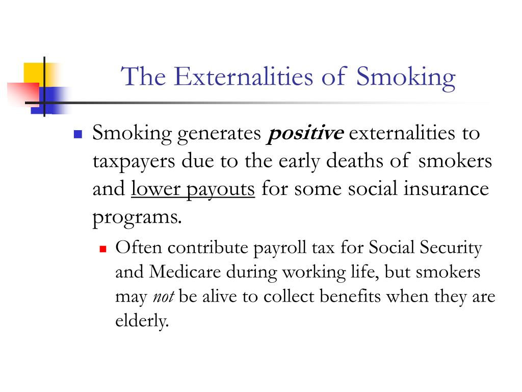 The Externalities of Smoking