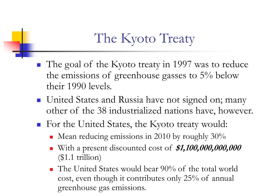 The Kyoto Treaty